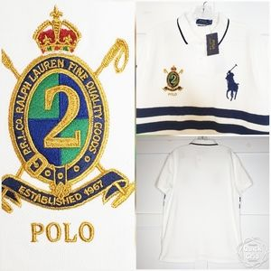 Polo Ralph Lauren White Ruby Polo Shirt XL Crest